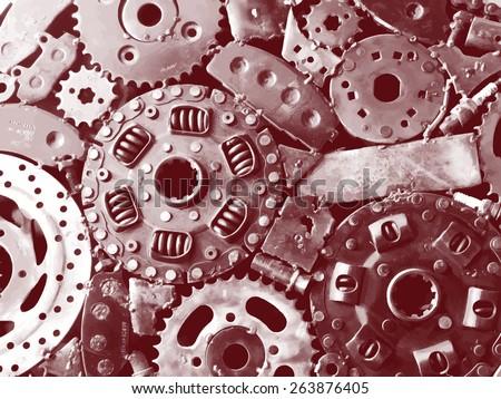 Steampunk vector background - stock vector