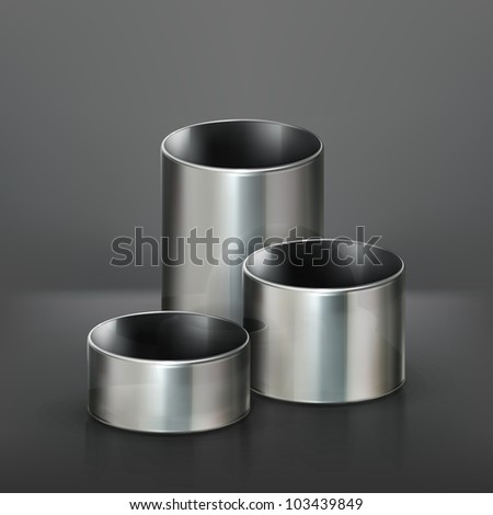 Steel pipes, vector - stock vector