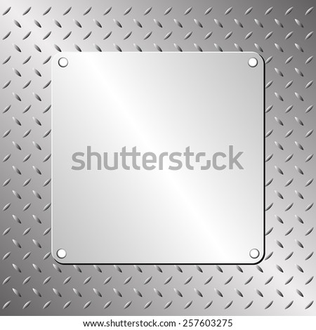 steel plate and metallic pattern - stock vector