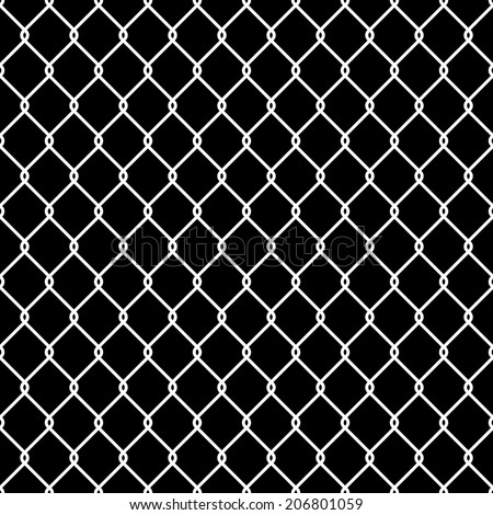 Steel Wire Mesh Seamless Background. Vector illustration - stock vector