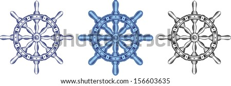 Steering wheel - stock vector