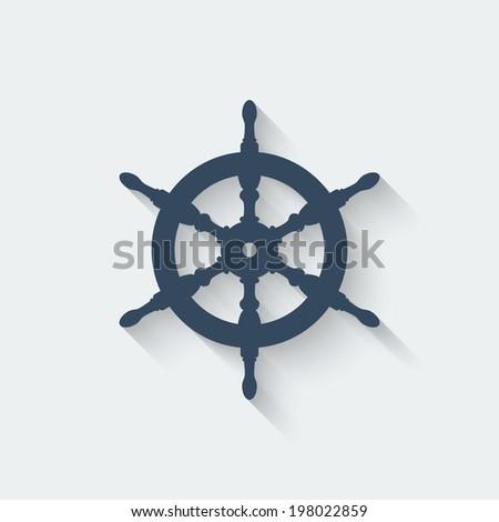 steering wheel design element - stock vector