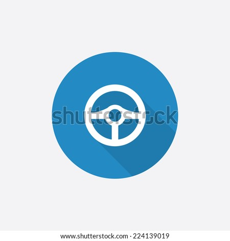 Blue Steering Wheel Steering Wheel Flat Blue