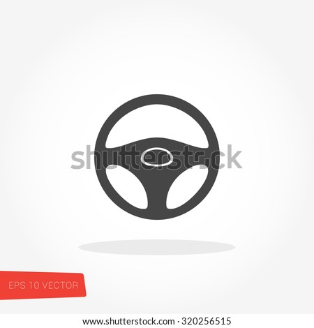 Steering Wheel Icon / Steering Wheel Icon Object / Steering Wheel Icon Graphic / Steering Wheel Icon JPG / Steering Wheel Icon JPEG / Steering Wheel Icon EPS / Steering Wheel Icon AI - stock vector