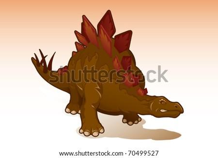 Stegosaurus - vector - stock vector