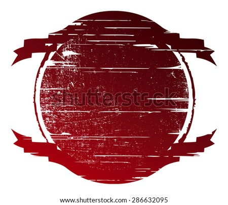 stencil crest with copy space - stock vector
