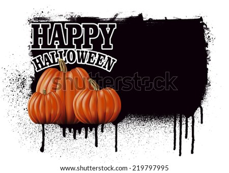 stencil happy halloween banner - stock vector