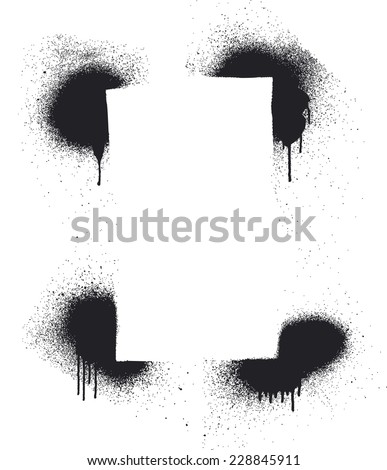 stencil inky frame - stock vector