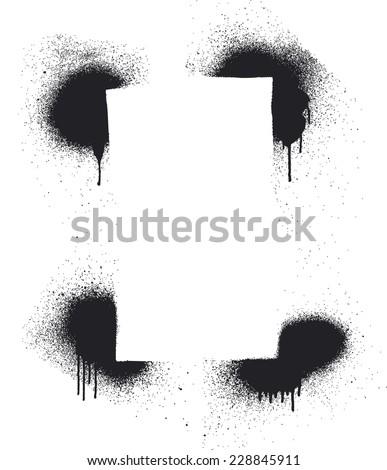 stencil inky frame - stock vector