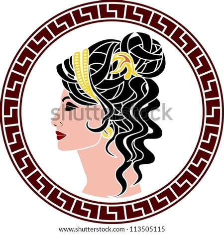 stencil of aristocrat woman. color variant. vector illustration - stock vector