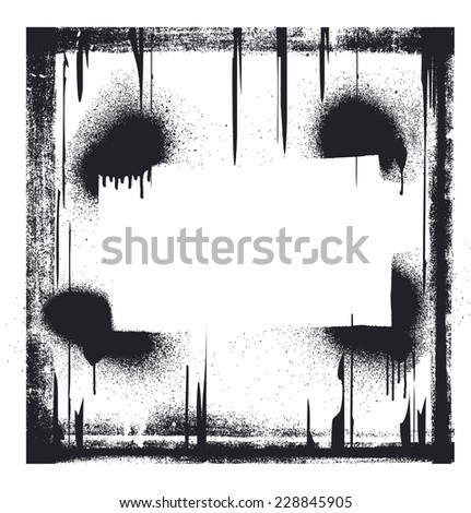 stencil vintage frame - stock vector