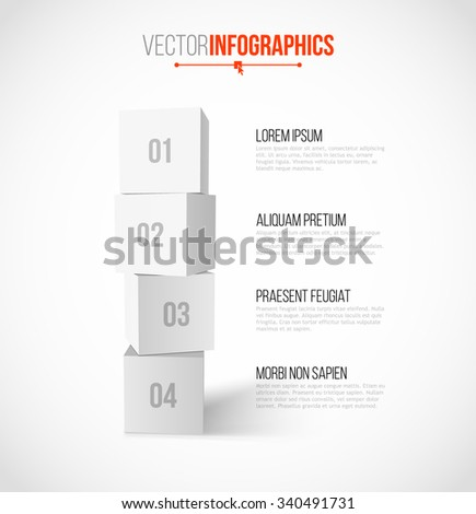 Step by Step Boxes Design in Minimal Style. Template for Infographics / Graphic Design / Website / Presentation / Workflow Layout / Tutorial Layout - stock vector