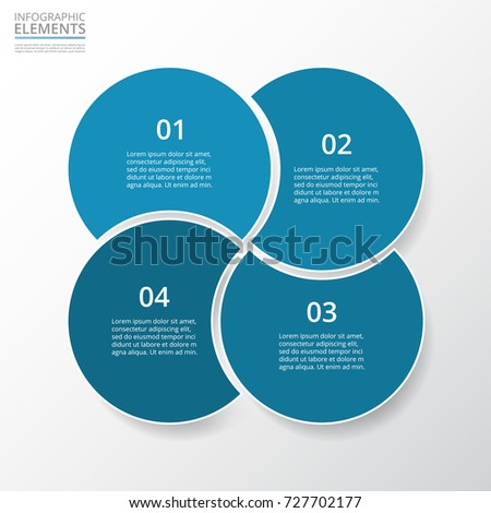 Step by step infographic template 4 stock vector 727702177 template with 4 circles can be used for workflow layout ccuart Choice Image