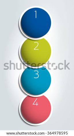 Step by step infographic template with numbers and text fields. Vector workflow, colummn layout, diagram, chart, number options. - stock vector