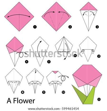 Step By Instructions How To Make A Origami Flower