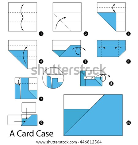 How To Make Origami Card Holder How To Make A Paper Card Case
