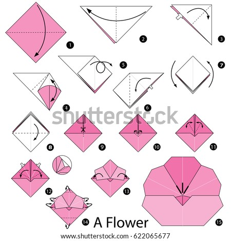 how to make a paper tulip step by step