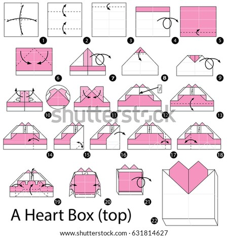 Step By Instructions How To Make Origami A Heart Box