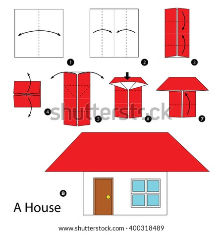Origami house stock images royalty free images vectors for How to build a house step by step instructions