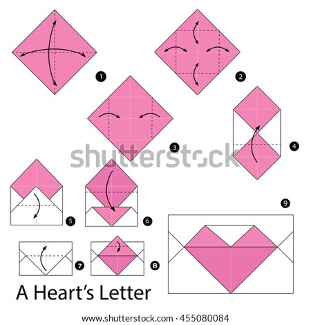 Step By Instructions How To Make Origami A Letter