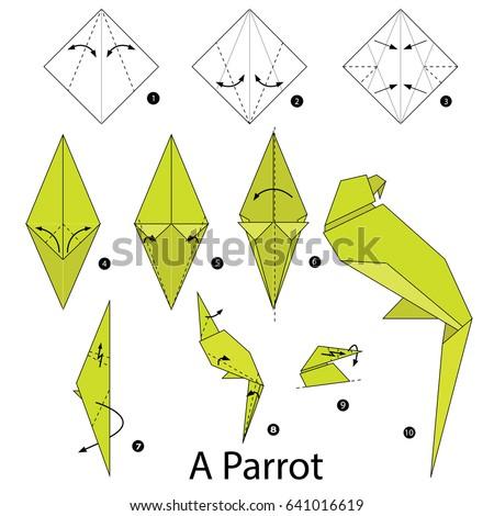 easy origami birds printable instructions