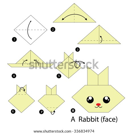 Step By Instructions How To Make Origami A Rabbit