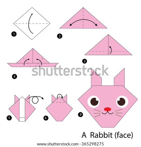 Origami animals stock photos images pictures shutterstock - Origami chat facile ...
