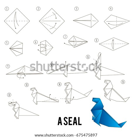 Step By Instructions How To Make Origami A Seal