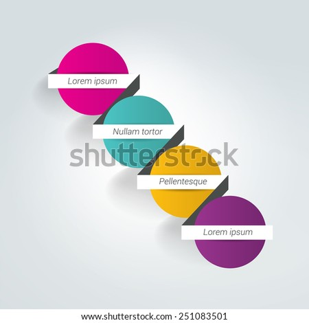Step by step template, scheme. Infographic element. - stock vector