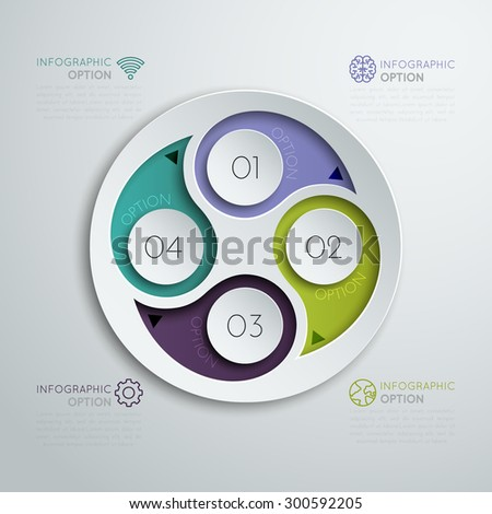 Step-by-step. The business concept. - stock vector