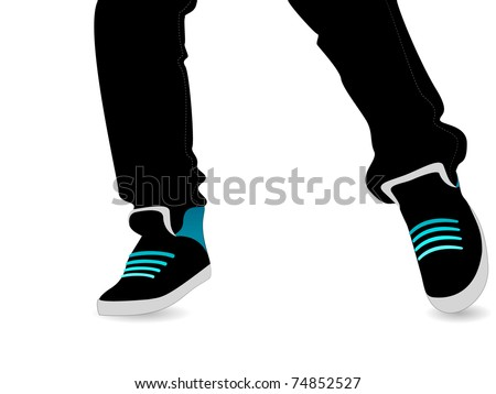 Step Dance - stock vector