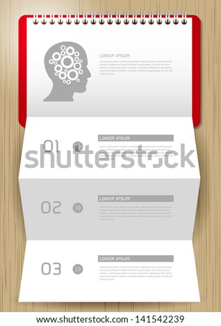 Step for positive thinking with paper, Creative folded paper modern template design vector illustration