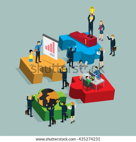 step of success business info graphic with isometric concept - stock vector