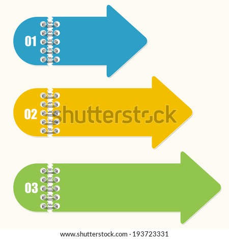 Steps arrows for infographic, banner and presentation - stock vector