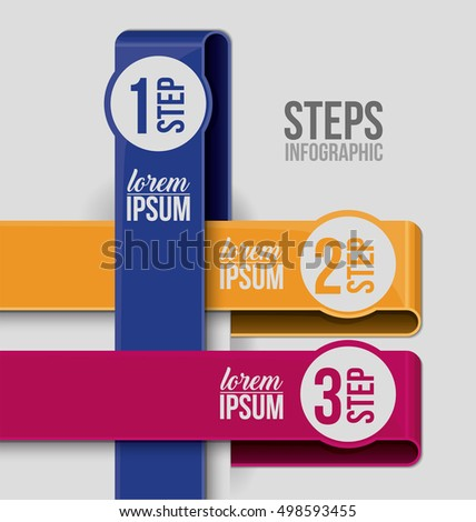 Steps options and infographic design