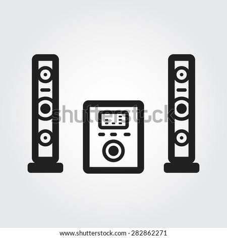 stereo audio vector - stock vector