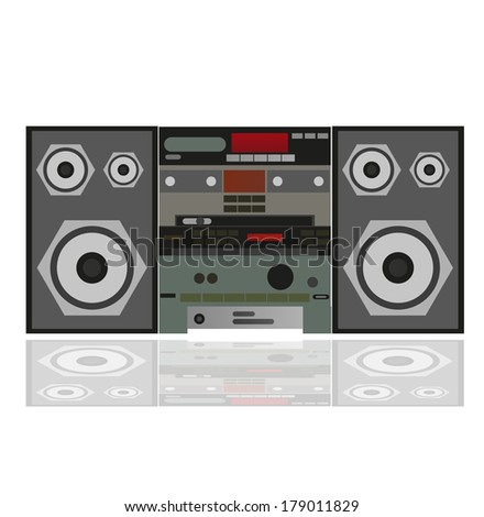 Stereo system  - stock vector