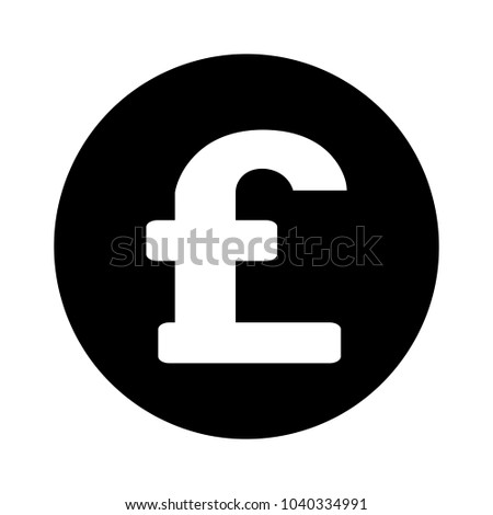Sterling Pound Currency Sign Stock Photo Photo Vector