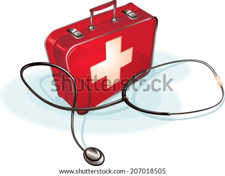 Stethoscope & first aid case