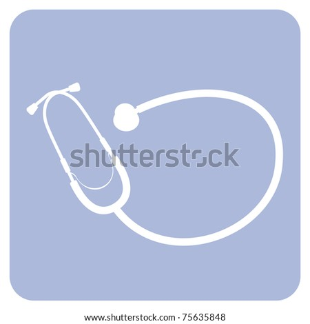Stethoscope icon. Vector availabe - stock vector