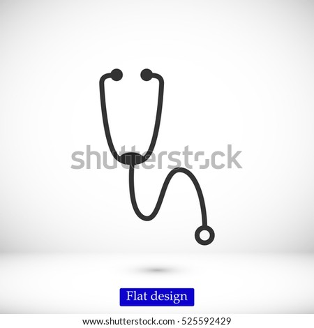 Stethoscope icon, vector best flat icon, EPS