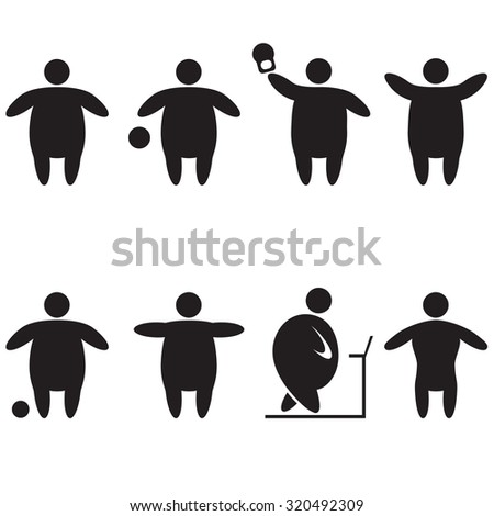Stick Figure fitness. - stock vector