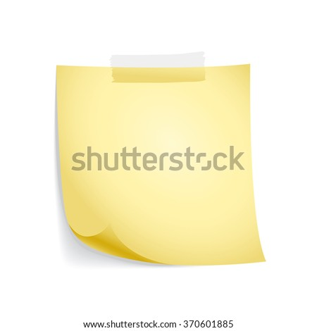 stick note, vector - stock vector