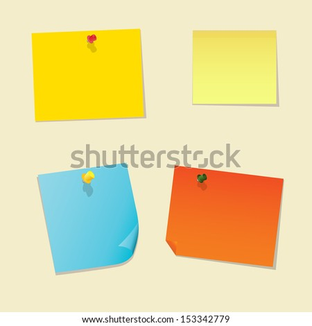 Stick note vector illustration