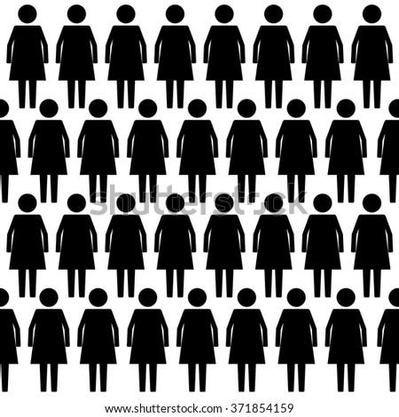 Stick Woman icon set . Vector illustration  - stock vector
