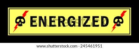 Sticker - a high voltage - stock vector