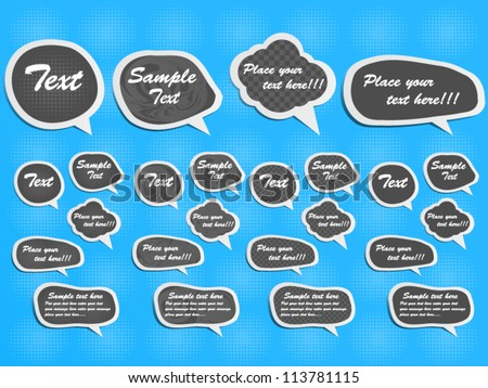 STICKER COMICS LABEL ETIQUETTE - stock vector