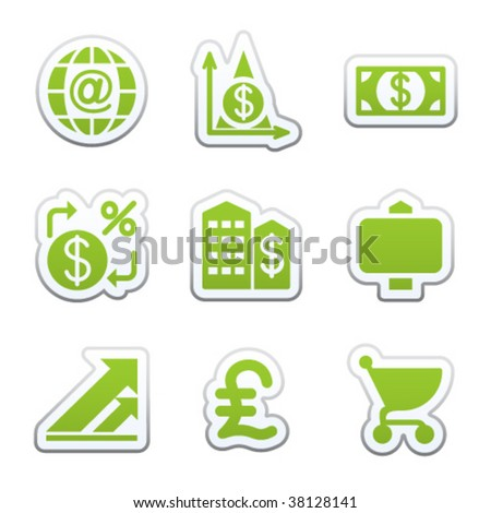 Sticker for web set 23 - stock vector