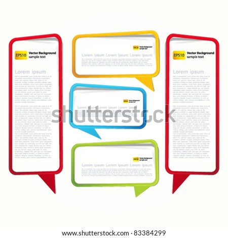 Sticker in the form of an empty frame for your text. - stock vector