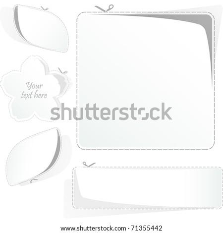 Sticker set. Vector templates for design. - stock vector